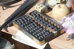 算盘古色古香的市场 免版税库存图片