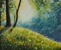 结算晴朗森林的夏天 免版税库存照片