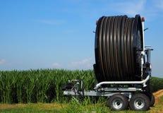 水管卷轴irrigator 库存照片