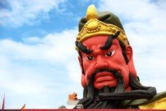 管国Yu管国Yu苏梅岛寺庙雕象  库存图片