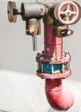 管子供水系统 库存照片