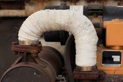 管子热被包裹的帆布 免版税图库摄影