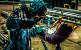 管子焊工 库存照片