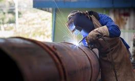 管子焊接 免版税库存图片