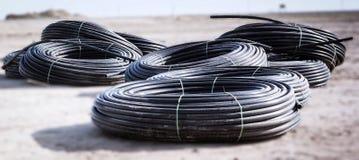 管子由高密度聚乙烯制成 免版税库存图片