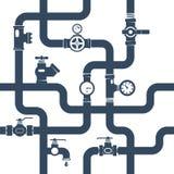 管子黑白色概念例证 库存例证
