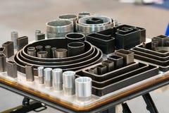 管子industial管道系统的线的手肘连接器 免版税库存图片