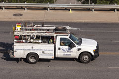 水管工卡车在美国 图库摄影