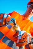 水管工工作者 免版税图库摄影