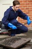 水管工流失的定象问题 免版税图库摄影