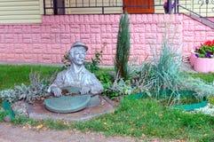水管工的雕塑 图库摄影
