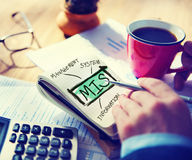 管理信息系统MIS数据发展概念 库存图片