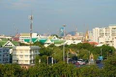 管理区域Bowon Niwet,晴天,曼谷,泰国的都市风景 免版税库存照片