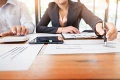 管理员商人财政审查员和秘书mak 免版税图库摄影