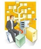 管理员文件夹结构树 图库摄影