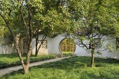 管理员瓷庭院谦逊的苏州 图库摄影