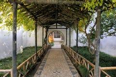 管理员瓷庭院谦逊的苏州 免版税图库摄影