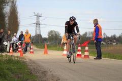 管理员骑自行车者业务量 库存照片