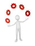 管理进程 免版税库存图片