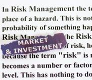 管理风险 库存图片