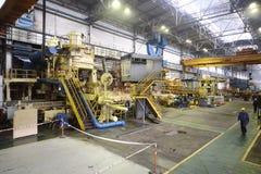 管的复数在制造业商店 免版税库存图片