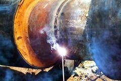 管道传递途径焊接 库存图片