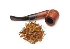 管道抽烟的烟草 免版税库存图片