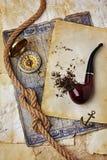 管道抽烟的烟草 库存照片
