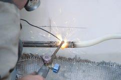 管道焊接  库存照片