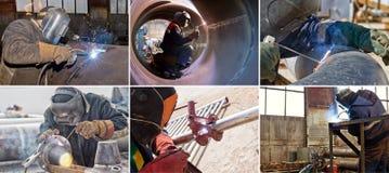 管道的部分和元素焊接  免版税库存图片