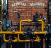 管道系统与测压器的 库存图片