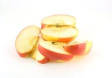管道红色苹果与舔 库存照片