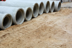 水管道系统的contruction 免版税库存照片