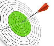 箭和目标 图库摄影