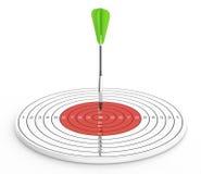 箭和目标 免版税库存图片