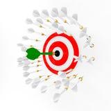 箭和目标 免版税图库摄影