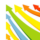 箭头五颜六色的向量 免版税图库摄影