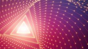箭头传染媒介无限三角隧道  发光的箭头形成隧道区段 五颜六色的科学领域形象化  皇族释放例证