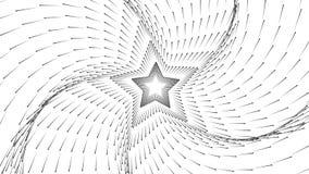 箭头传染媒介无限星隧道  发光的箭头形成隧道区段 单色科学领域形象化  库存例证