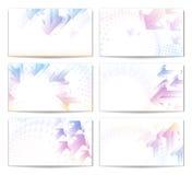 箭头名片eps10现代柔和的淡色彩集 免版税库存图片