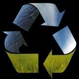 箭头回收符号三的要素本质 免版税库存照片