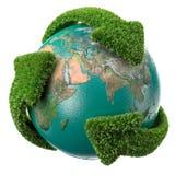 箭头地球叶子 图库摄影