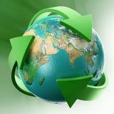 箭头地球叶子 免版税库存图片