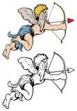 箭头弓丘比特 免版税图库摄影