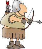 箭头弓战士 免版税库存照片