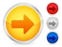 箭头按钮权利 库存照片