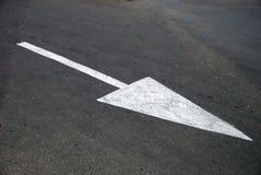 箭头沥青标号路 库存图片