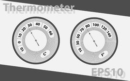 箭头温度计 温度测量设备 图库摄影