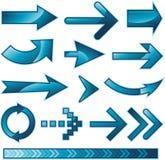 箭头符号向量 免版税库存照片