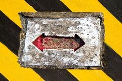 箭头红色符号 免版税库存照片